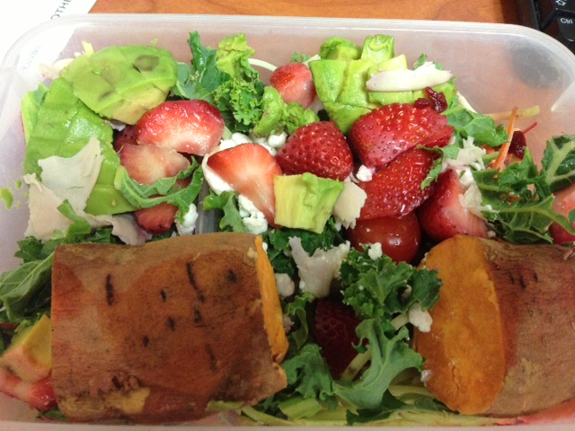 Healthy Salad Packed For Lunch!