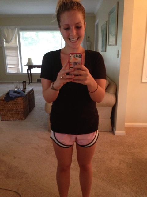 Post sweaty run through Butler's campus
