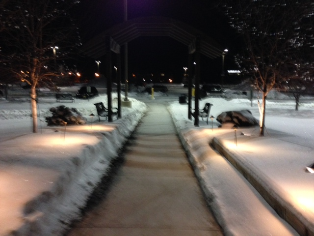 Leaving the hospital at 3am... it's so peaceful!