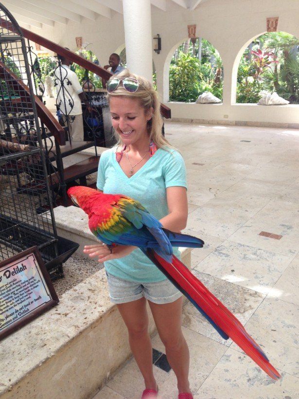 I was especially friends with Samson the parrot!!