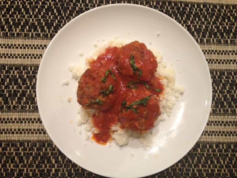 whole30 coconut curry meatballs