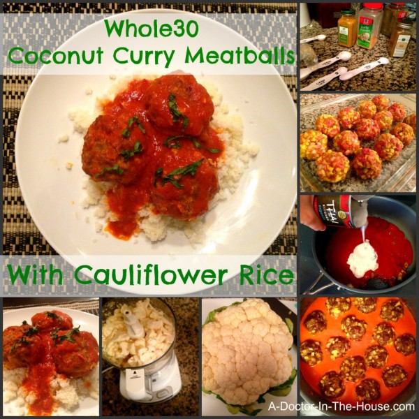 Whole30 Paleo Coconut Curry Meatballs
