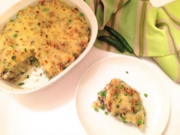 healthy salsa verde chicken casserole