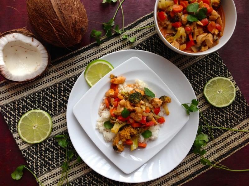 Healthy chicken veg curry recipe