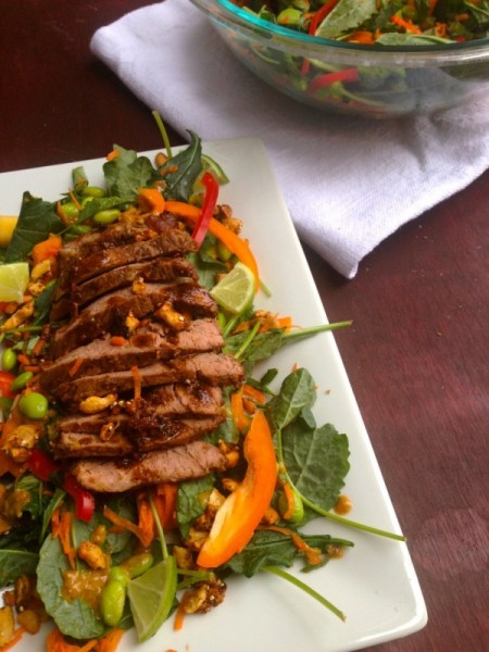 Thai steak salad with chili lime cashews