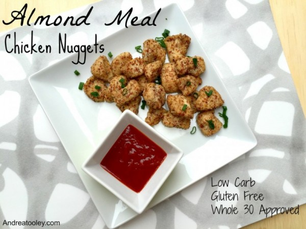 Almond meal chicken nuggets