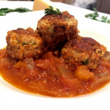 Healthy Turkey Meatballs With Spaghetti Squash