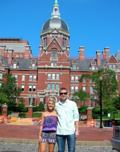 Visiting Kyle during his rotation at Johns Hopkins
