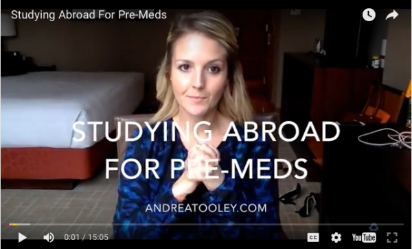 Studying Abroad For Pre-Meds